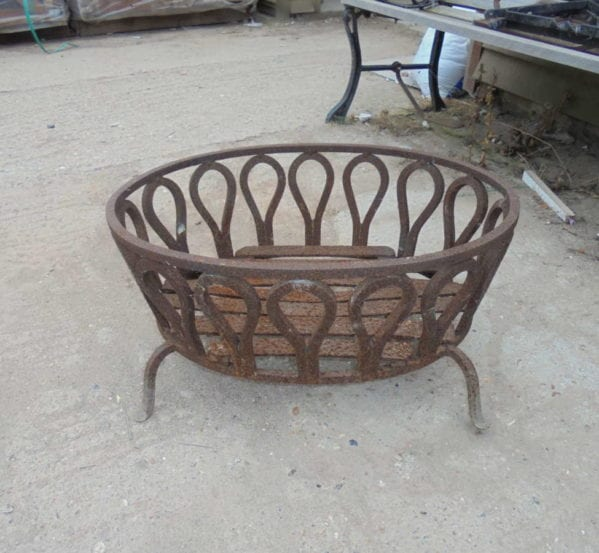 oval fire basket