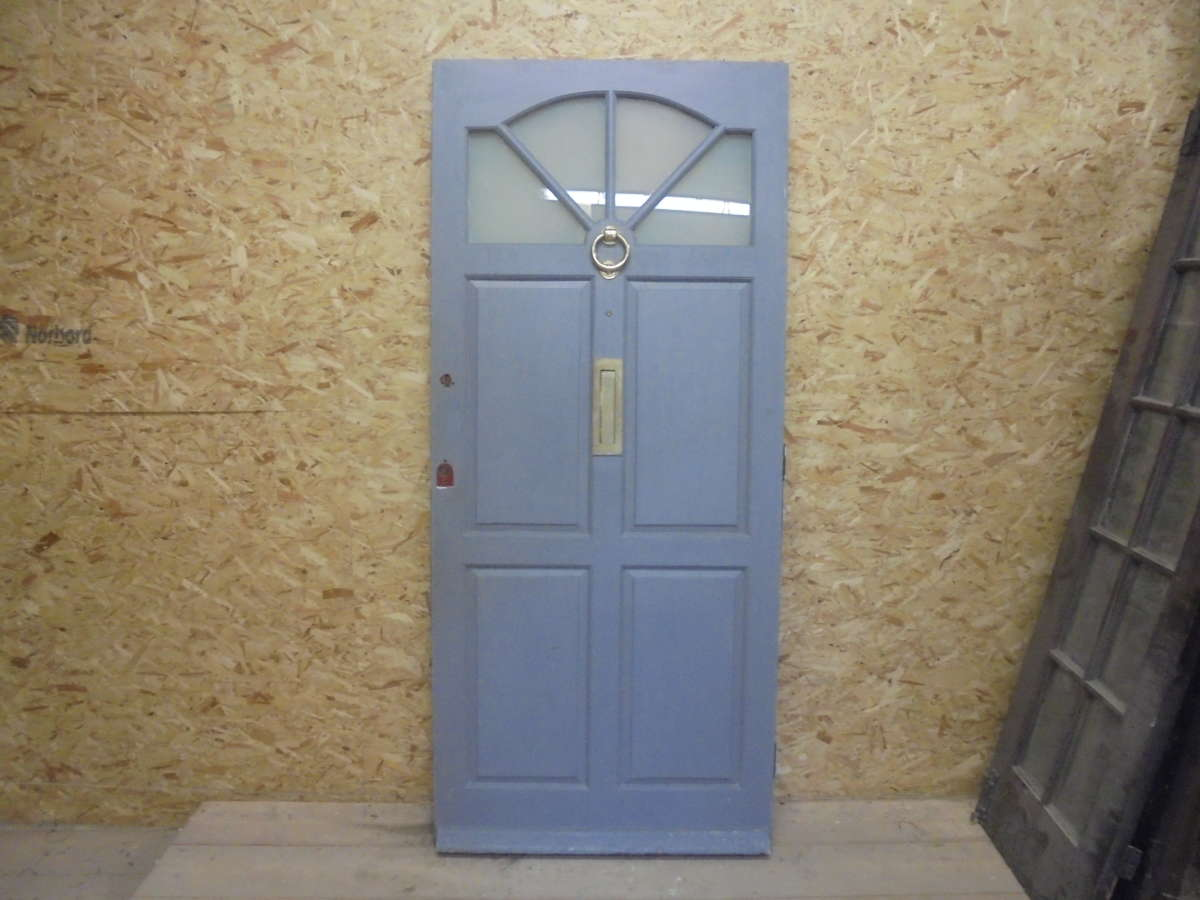 Reclaimed 4 panel part glazed front door