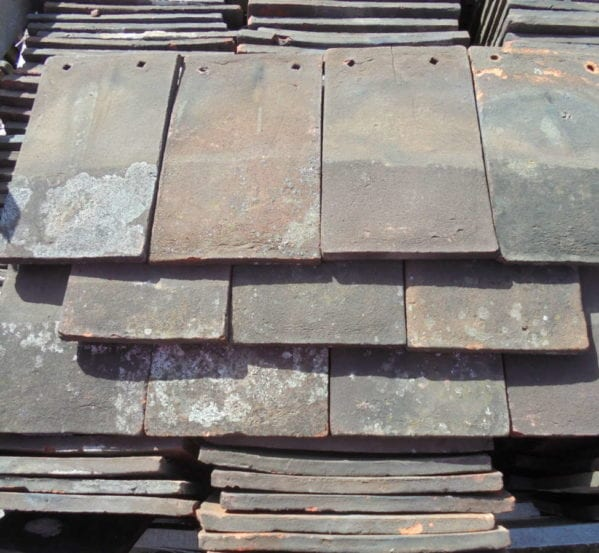 Handmade reclaimed roofing peg tiles