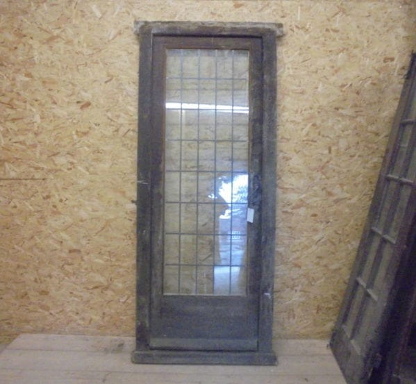 Reclaimed fully glazed framed door