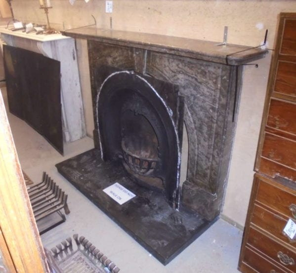 dark marble fire surround