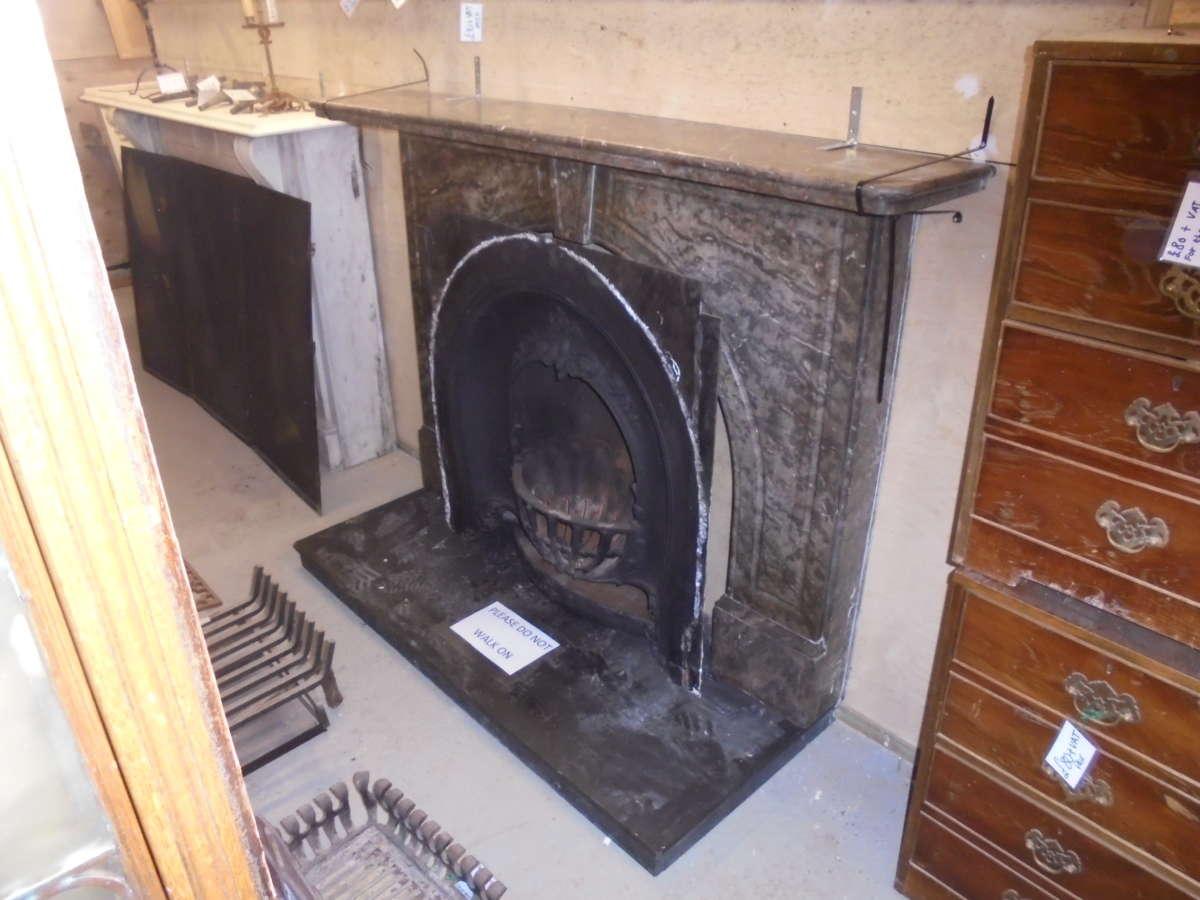 dark marble fire surround