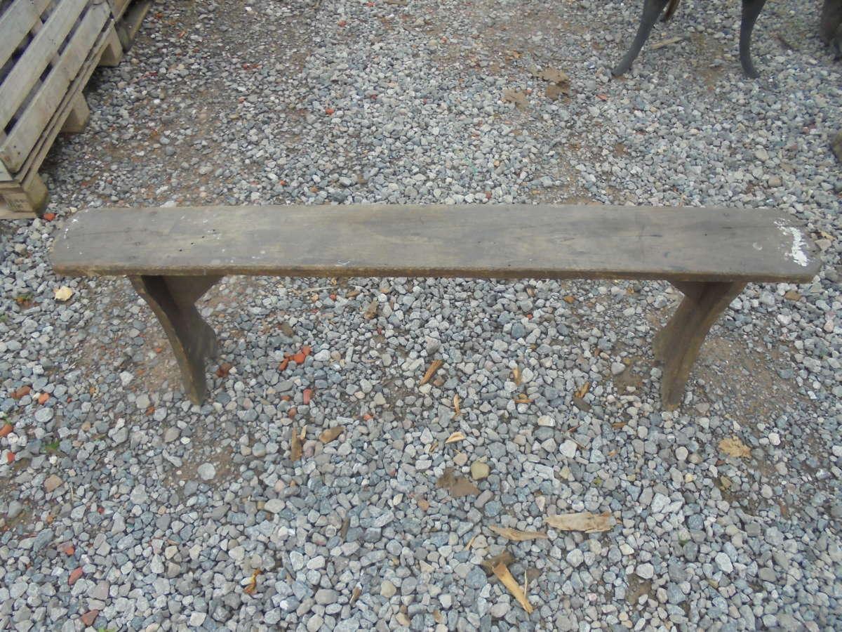 Reclaimed Dark Wooden Bench
