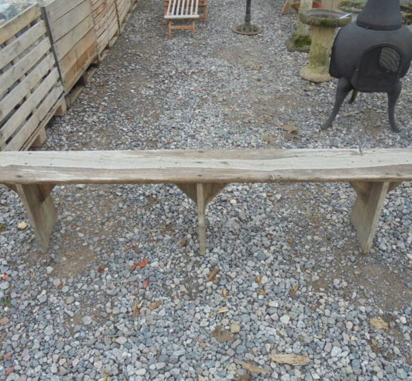 Small Reclaimed Wooden Bench