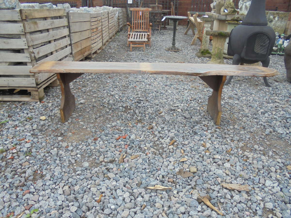 Small Outdoors Wooden Bench