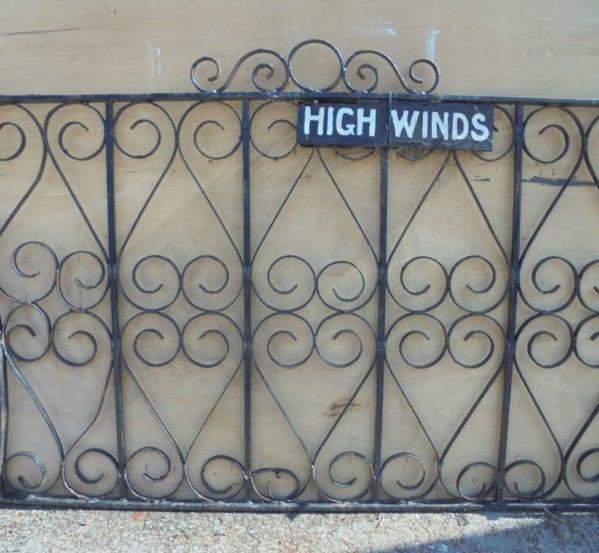 Wide Single Wrought Iron Gate