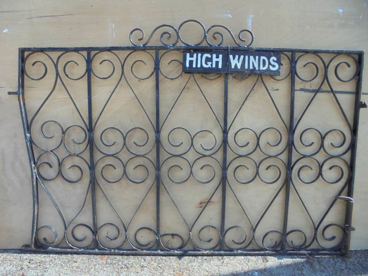 Wide Single Wrought Iron Gate