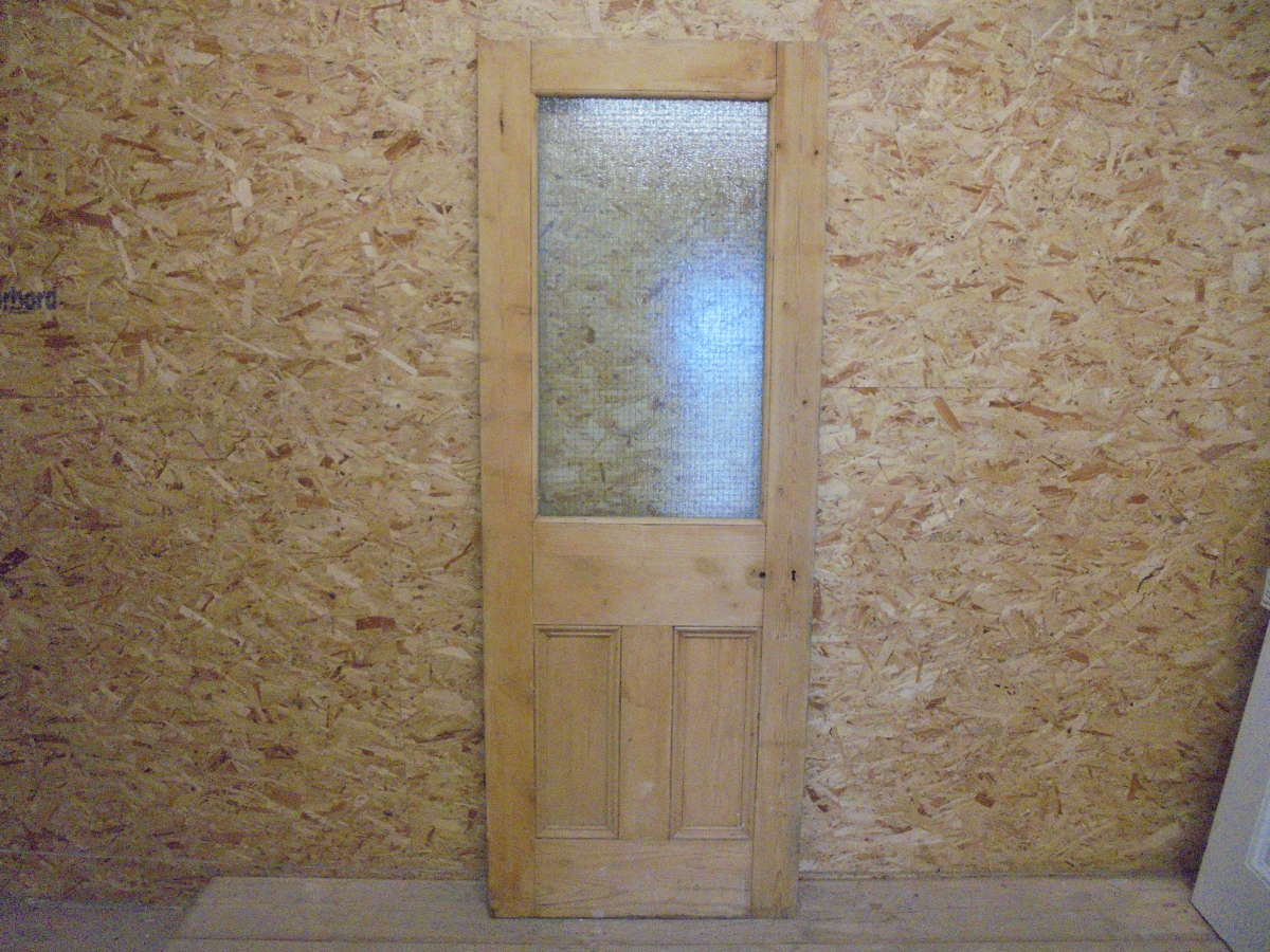 Reclaimed Half Glazed Door With Safety Glass