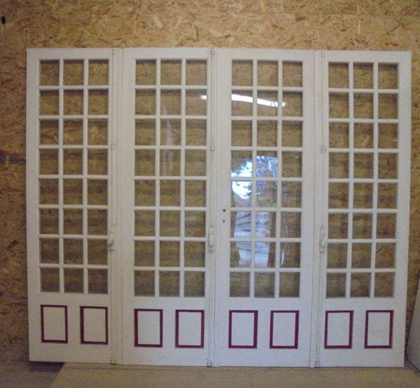 Reclaimed Quad-Fold Painted Doors