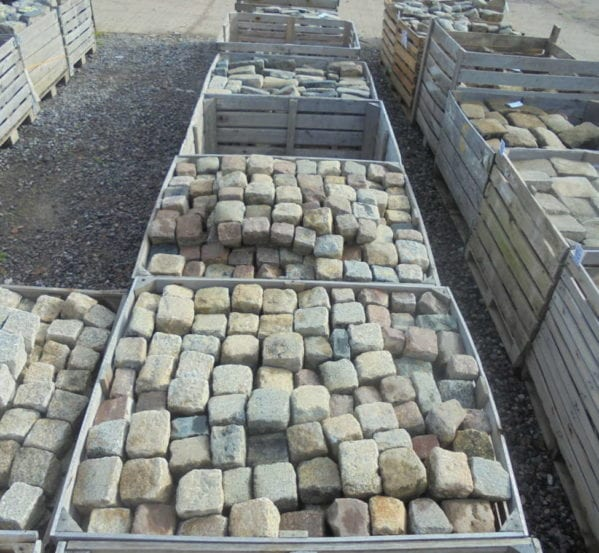 Mixed Coloured Cubed Granite Cobbles