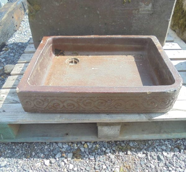 Reclaimed salt glazed sink