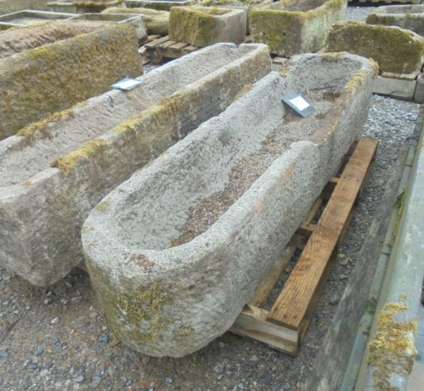 Reclaimed long stone trough