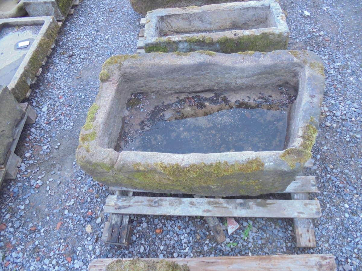 reclaimed rhombus stone trough