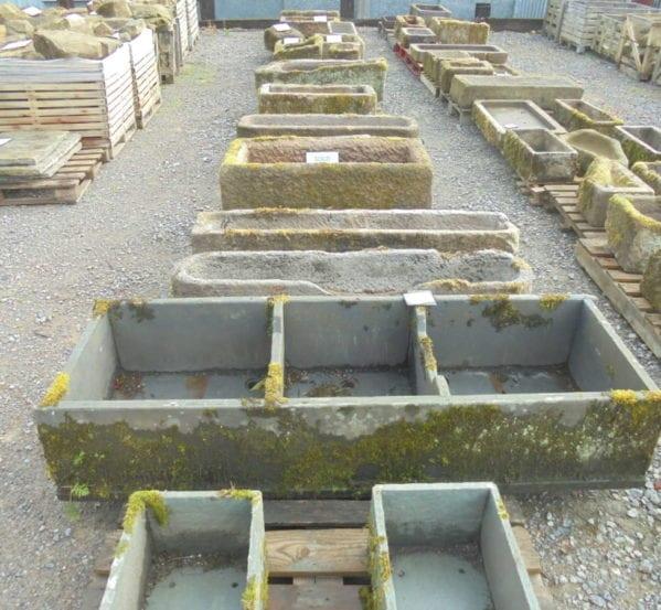 Reclaimed large slate trough