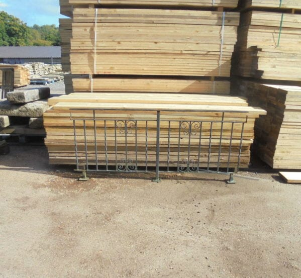 Free-standing Iron Railing Panel