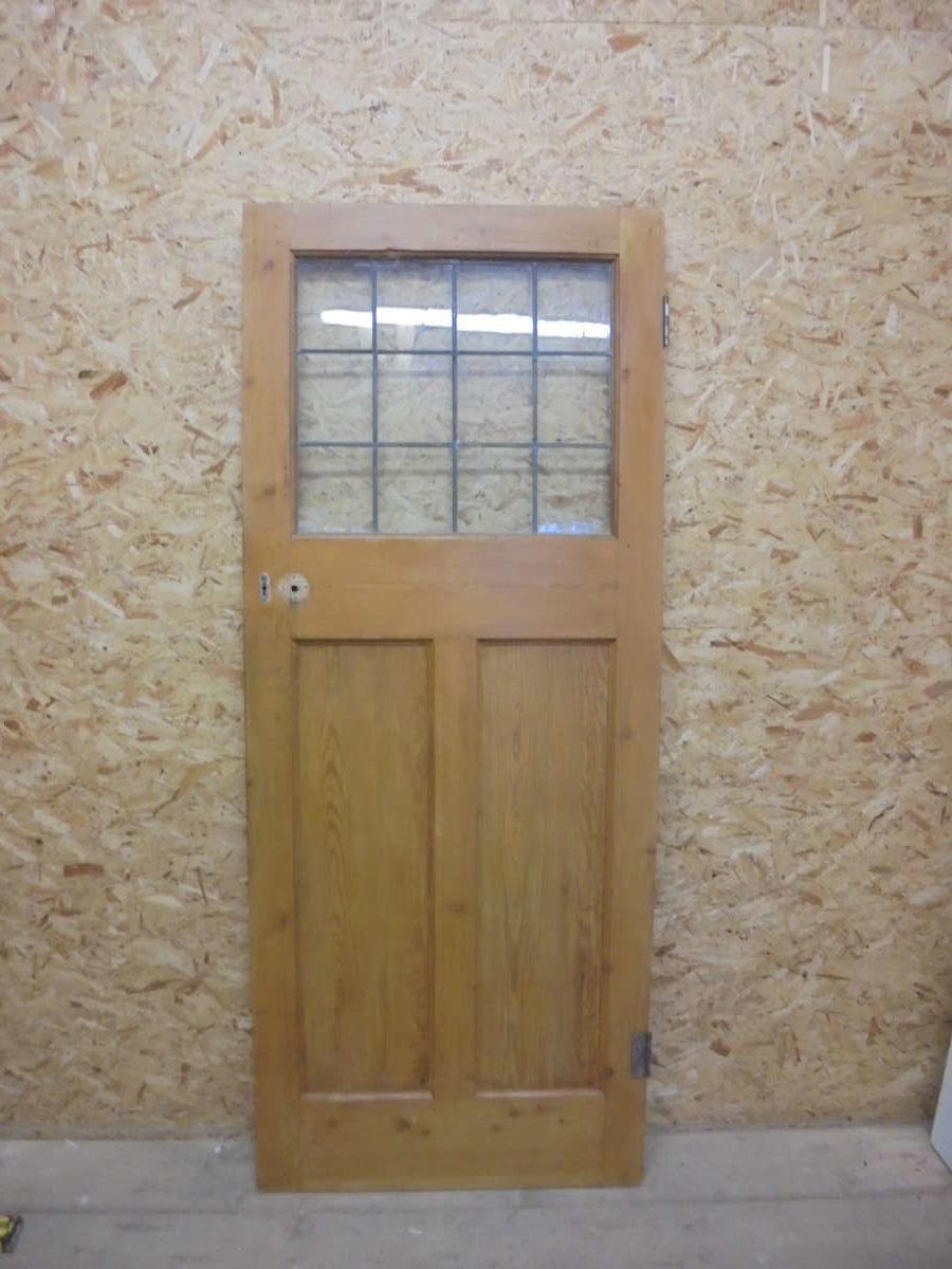 Three Panelled Door (1 glass over 2 wood)