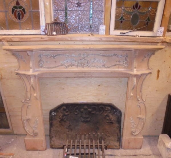 decorative wooden fire surround