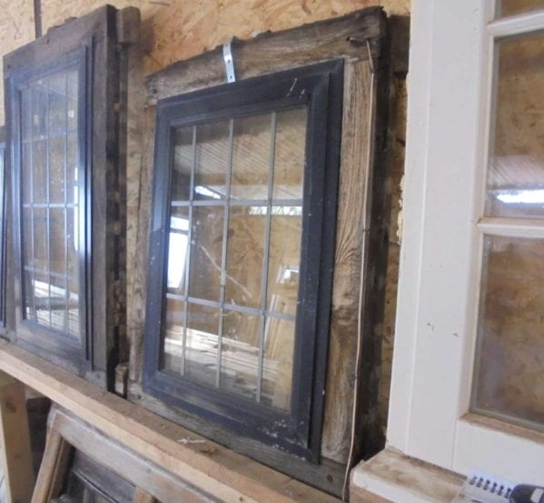 Pair Of Oak Framed Double Glazed Windows