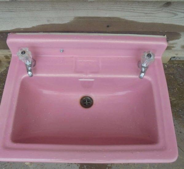 Reclaimed Pink Sink