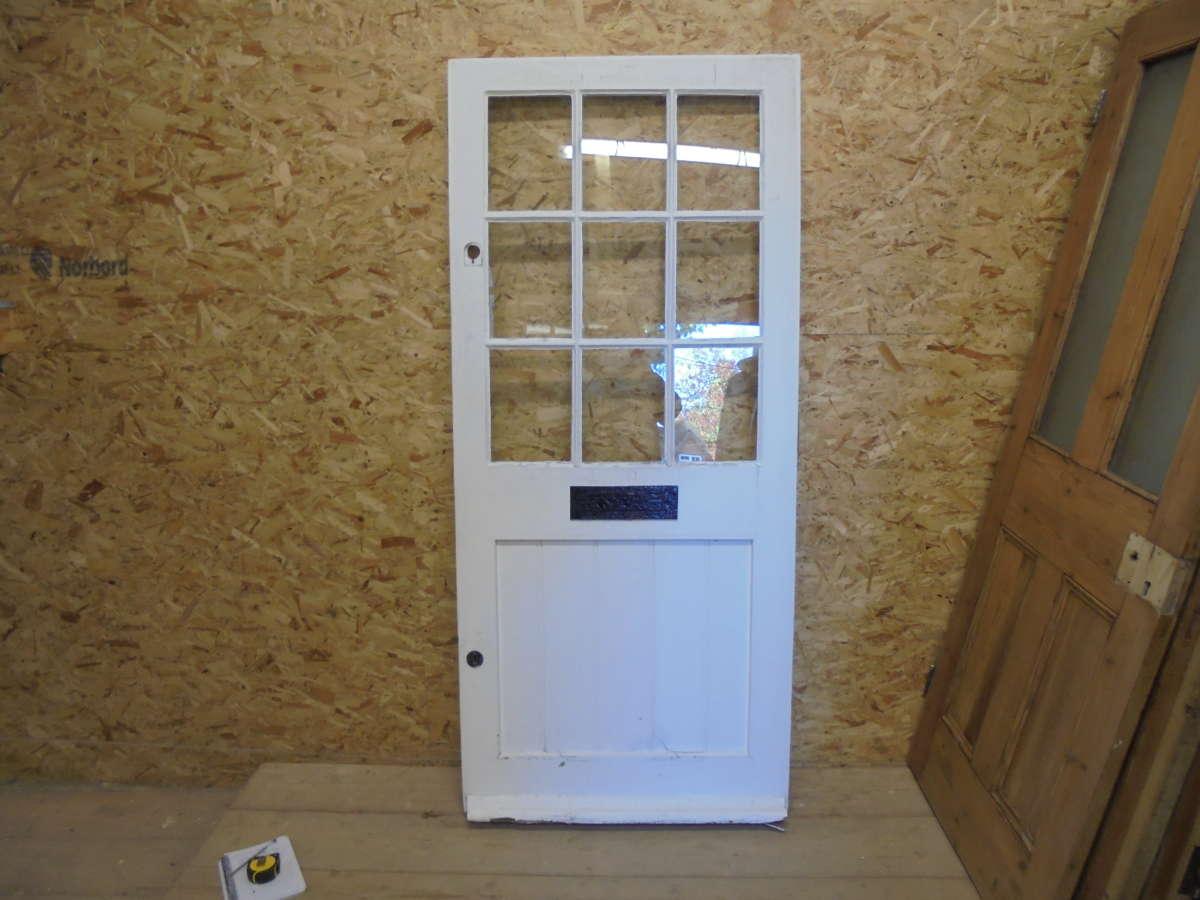 White Half Glazed 4 Panelled Front Door