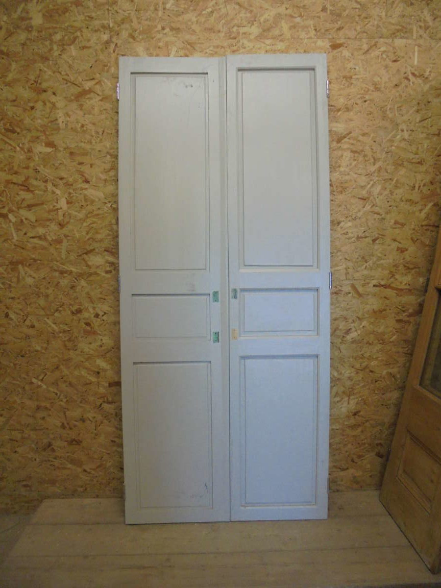 Half Stripped Reclaimed Double Doors