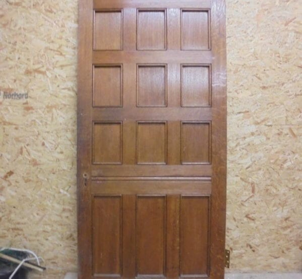 Lush Large Oak 12 Panelled Door