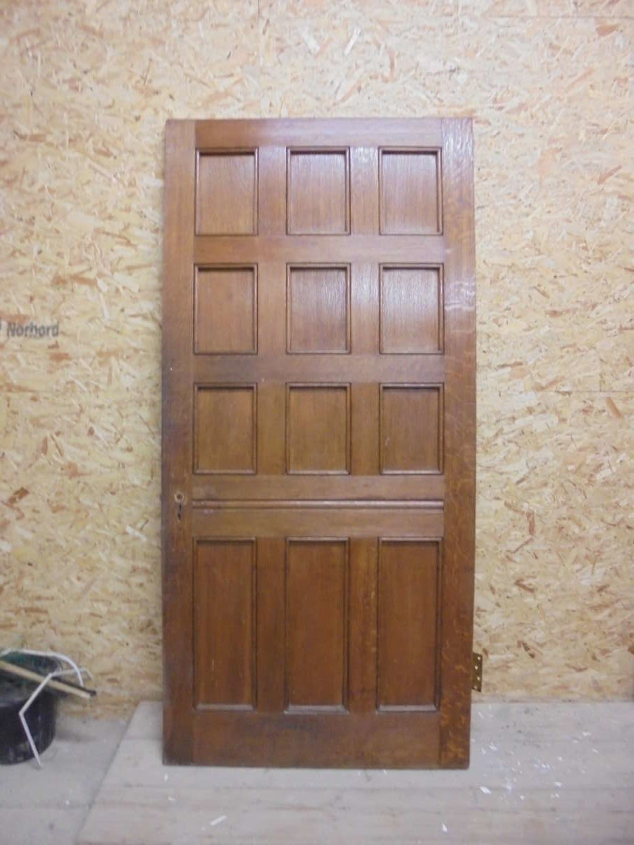 Lush Large Oak 12 Panelled Door