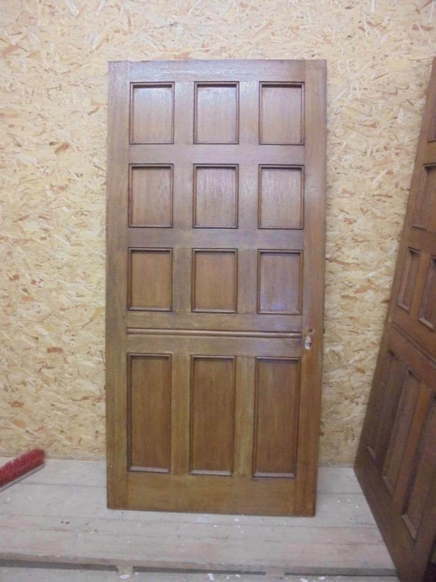 Large Dark 12 Panel Oak Door