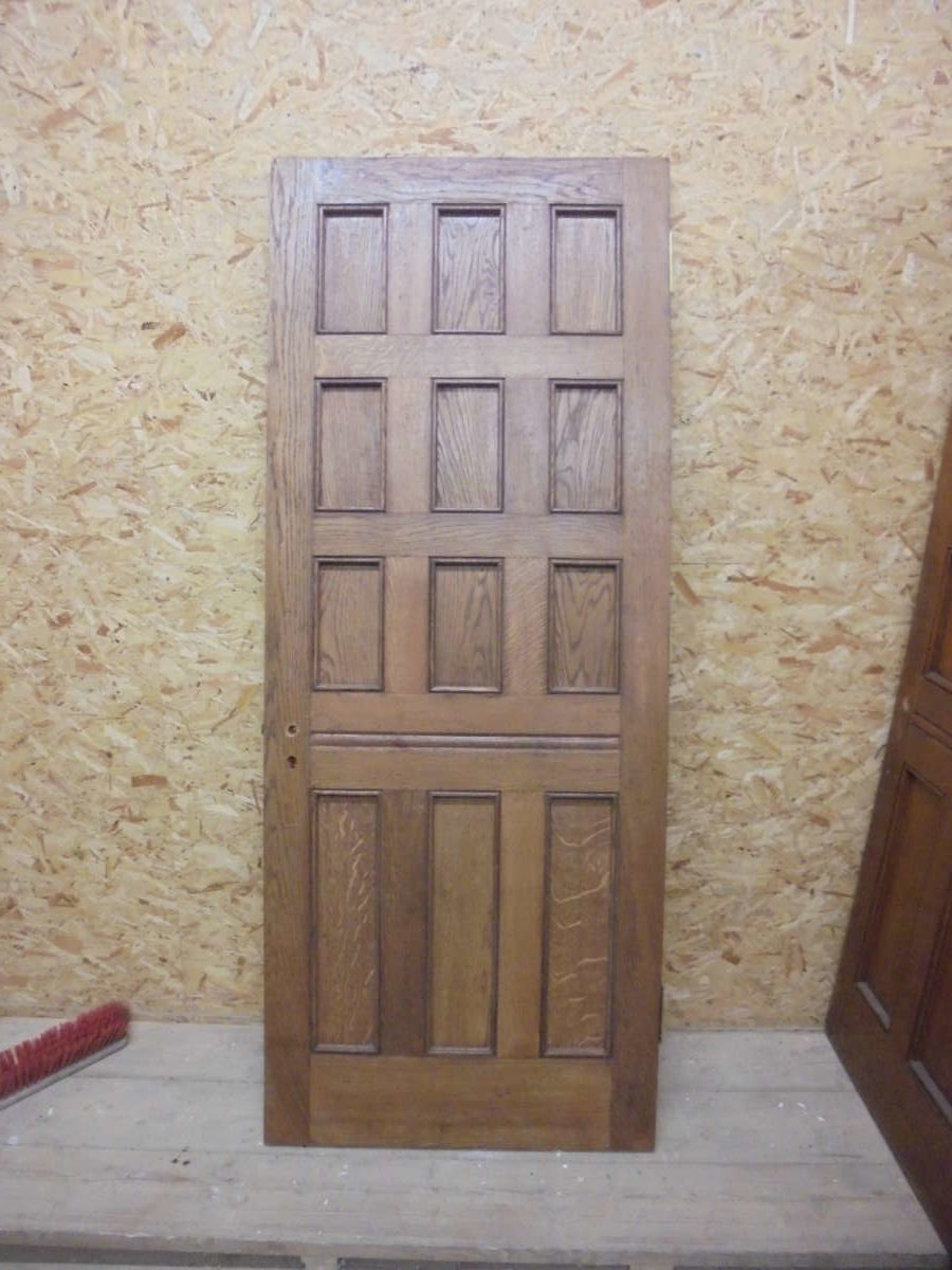 12 Panel Narrow Oak Door