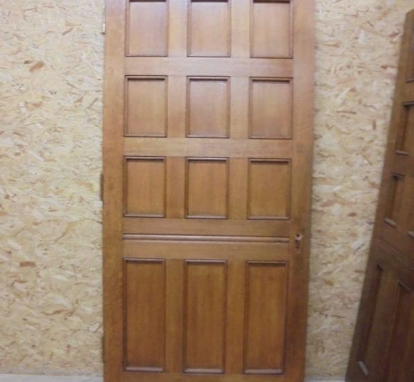 Orange Burst 12 Panel Solid Oak Door