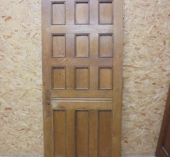 Dark 12 panel Oak Door
