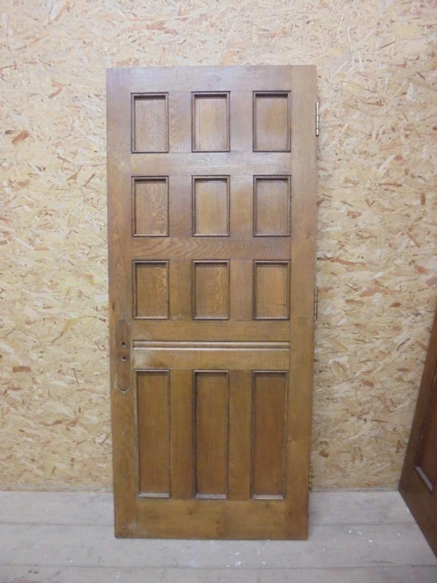 Dark 12 panel Oak Door