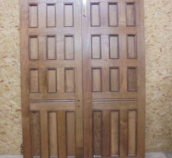 Reclaimed Oak 12 Panel Double Doors