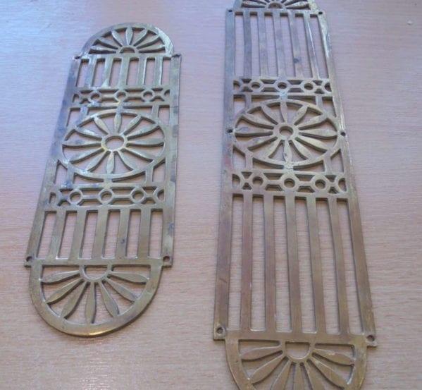 Sun-Ray Brass Decorative Push Plates