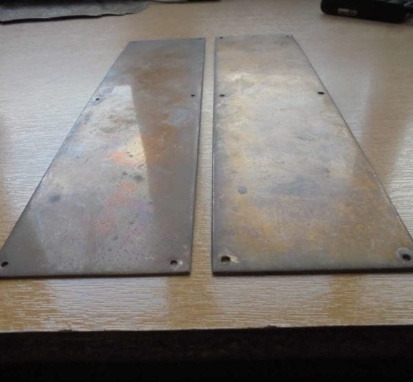 Rectangular Brass Push Plates