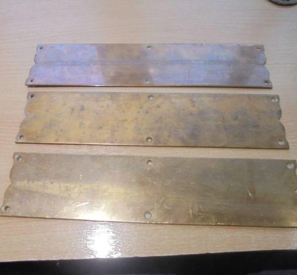 Modest brass Push Plates