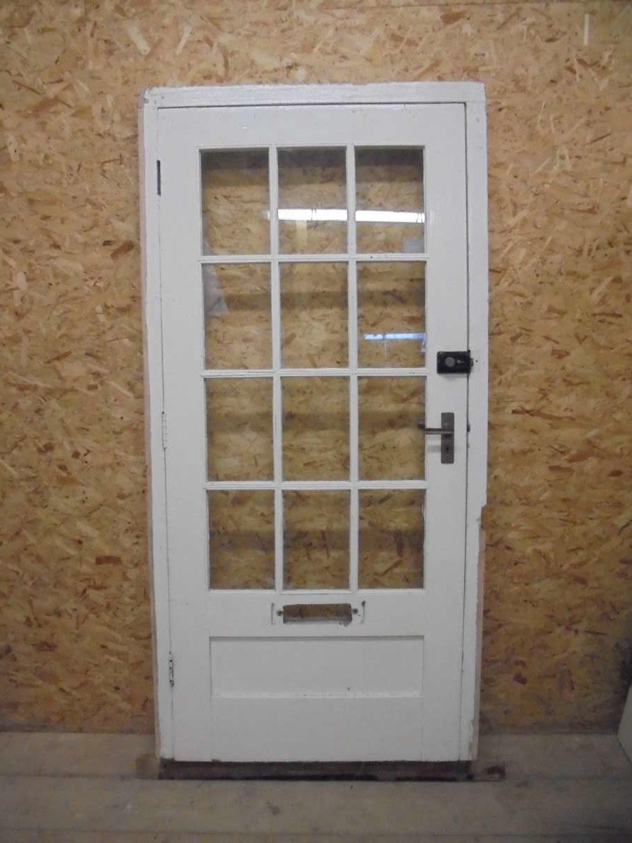 White Half Glazed Door + Frame