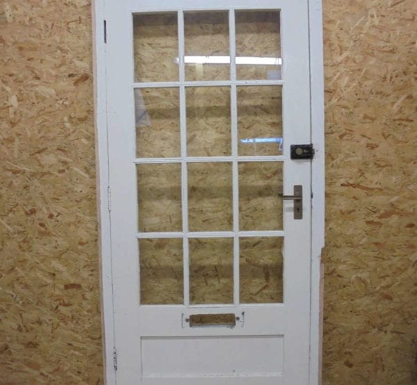 White Half Glazed Door + Frame