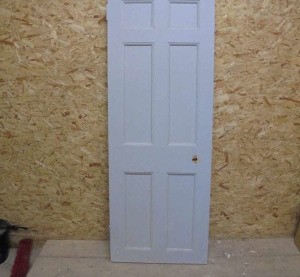 Grey Painted 6 Panel Door