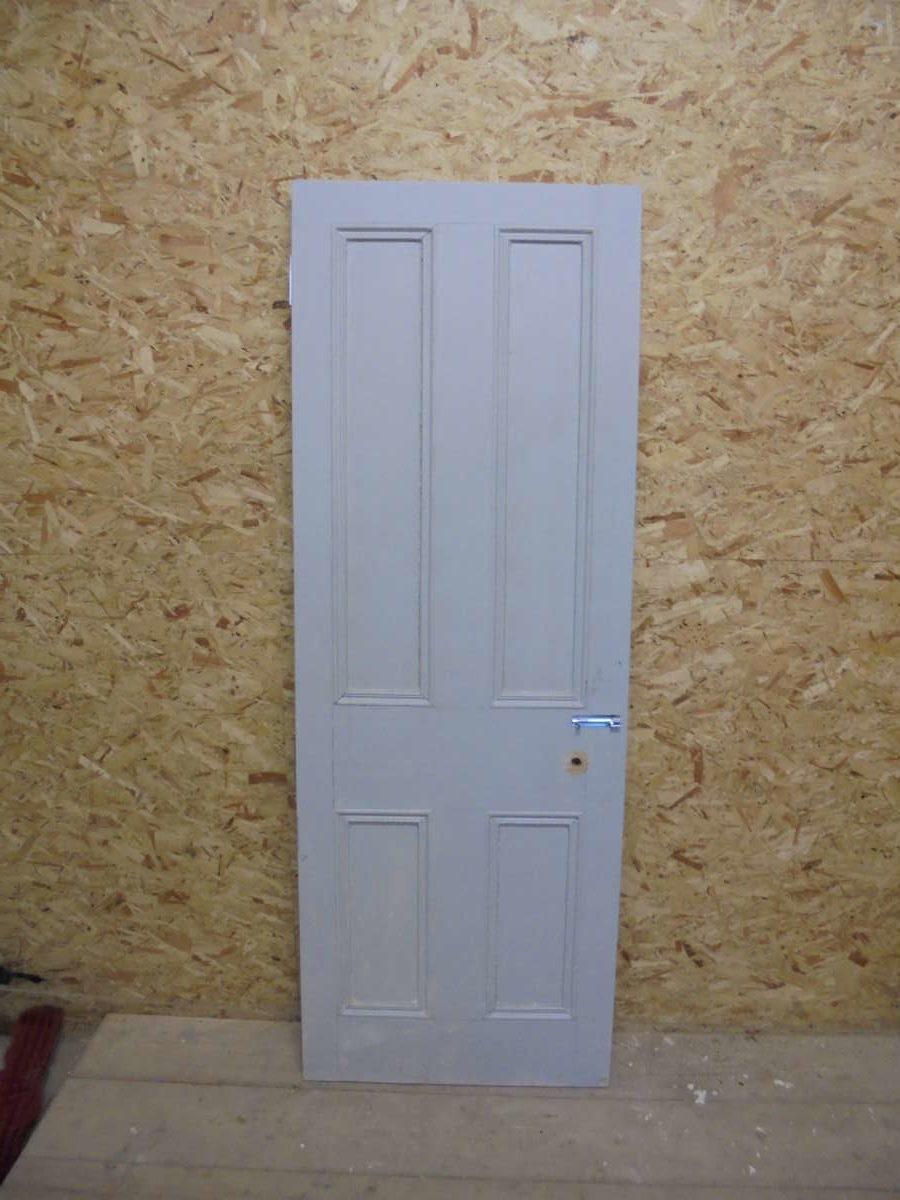 Grey Painted 4 Panel Door