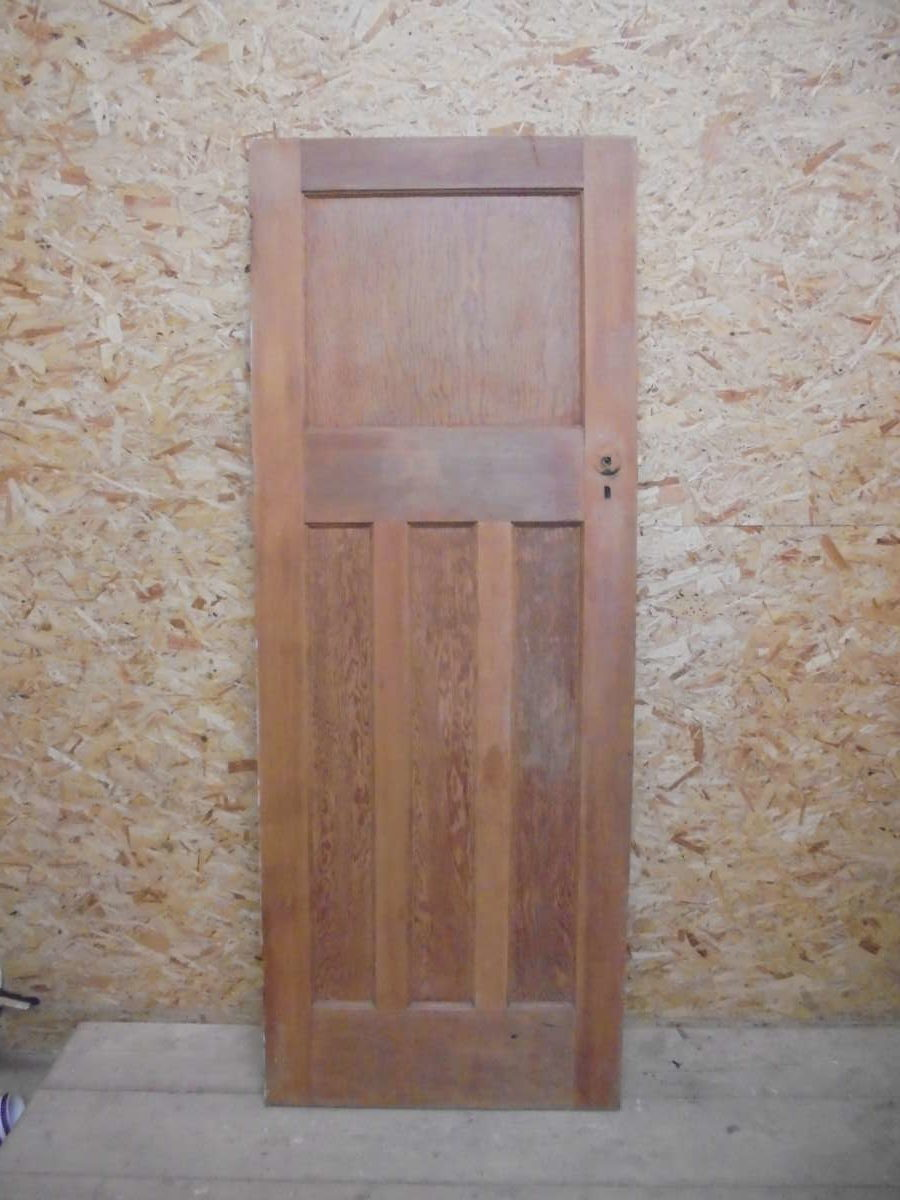 1 over 3 Natural Finish Door