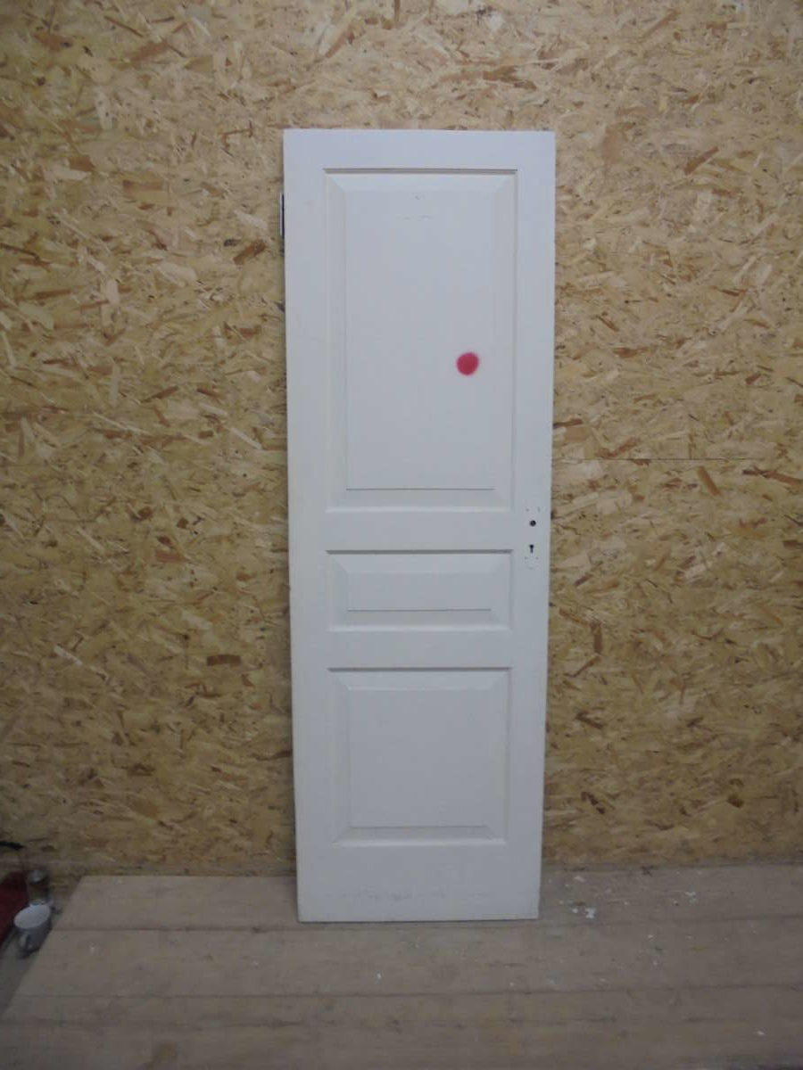 White Modern Narrow 3 Panel Door