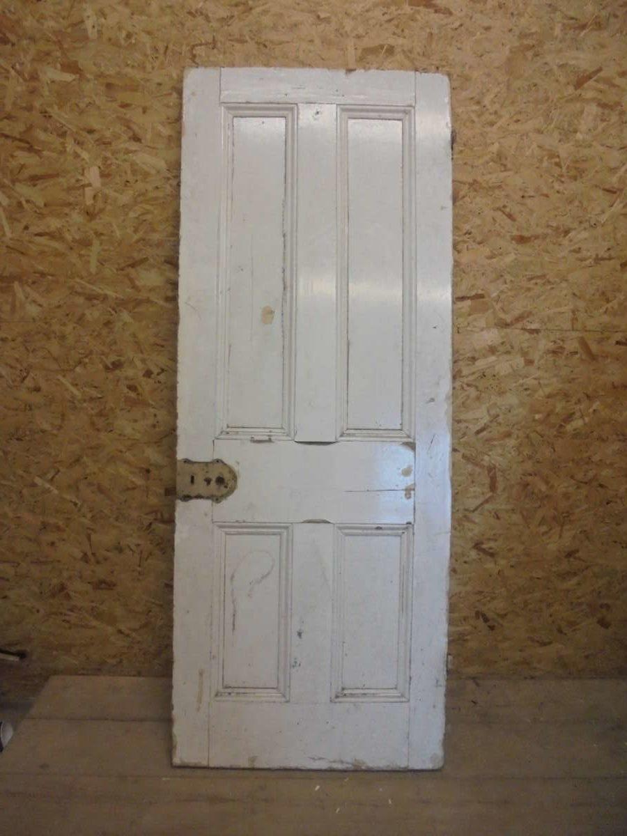 Medium Sized White 4 Panelled Door