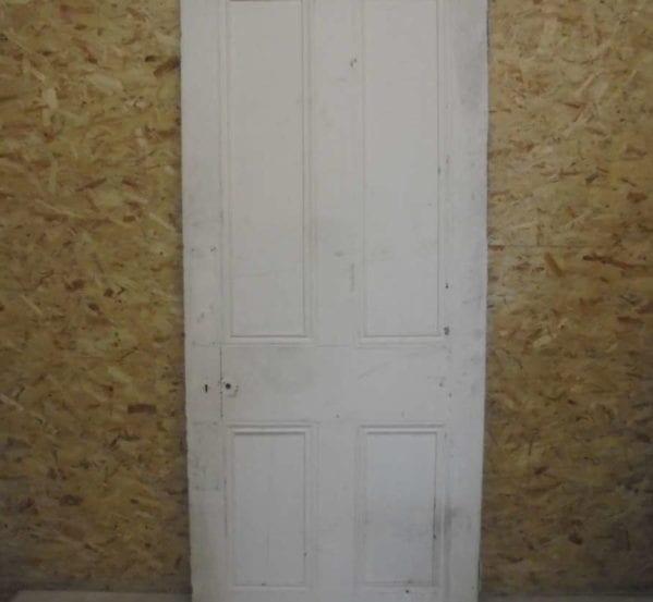 Thin White 4 Panelled Door