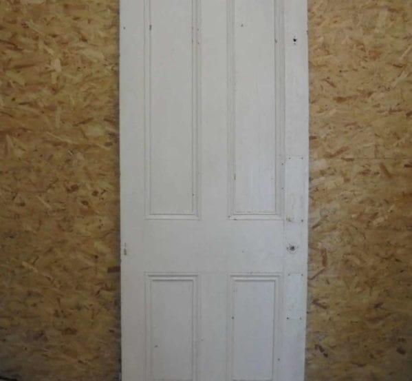 Big White 4 Panelled Door