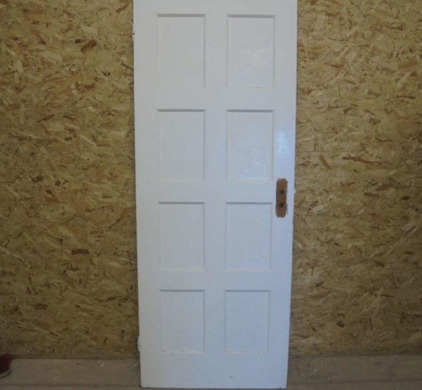 Painted White 8 Panelled Door