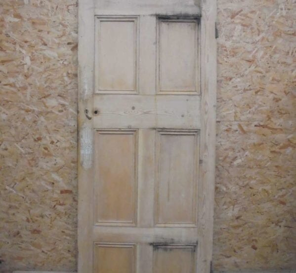 Large Stripped 6 Panelled Door