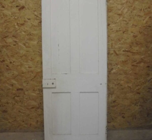 Plain 4 Panelled White Door
