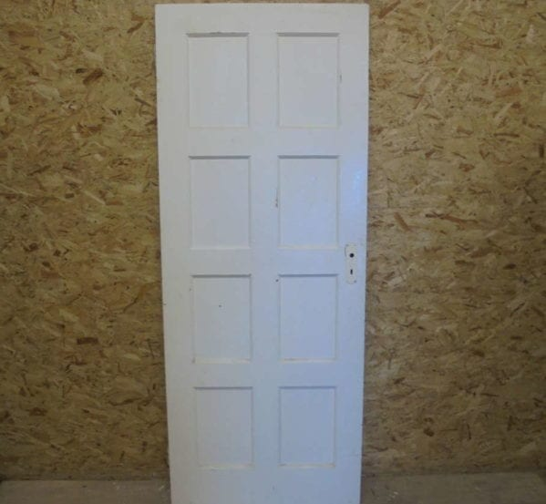 Narrow 8 Panelled Door Painted White