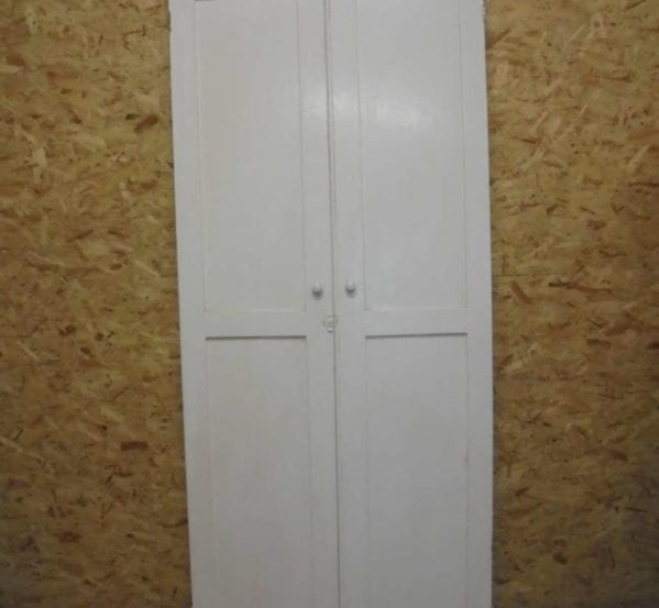 Tall White Double Cupboard Doors